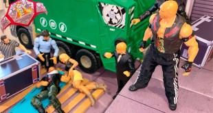 JON MOXLEY VS RYBACK HARDCORE CHAMPIONSHIP ACTION FIGURE MATCH!
