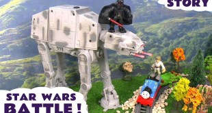 Star Wars Toys Battle Thomas and Friends | PlaySkool Darth Vader on U-Command AT-AT Remote Control