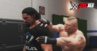WWE-2K18-Brock Lesnar vs.Roman Reigns - backstage brawl  Match- -RAW 2018
