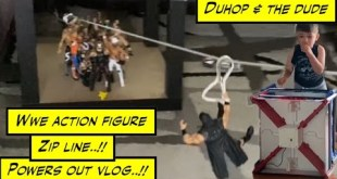 WWE elite Action figure Zip line No Power vlog