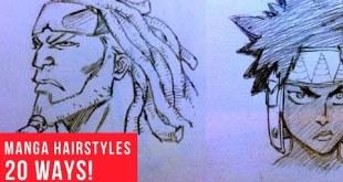 20 Ways Drawing Manga | Comic Hairstyles