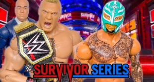 BROCK LESNAR VS REY MYSTERIO WWE CHAMPIONSHIP ACTION FIGURE MATCH! SURVIVOR SERIES 2019!