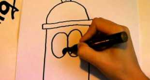 How to draw a funny cartoon character by Maxi