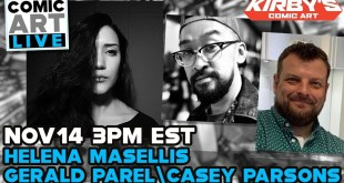 Comic Art LIVE Fall 2020 Panel with Artists Helena Masellis, Gerald Parel & Casey Parsons