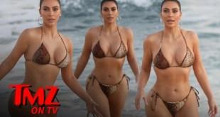 Kim Kardashian Shows Off Snake Print Bikini in Malibu | TMZ