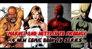 Marvel And Netflix To Produce 4 New Comic Book Live Action TV Series - DareDevil, Luke Cage...