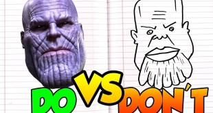 DOs & DON'Ts Drawing Thanos MARVEL In 1 Minute CHALLENGE! and TUTORIAL