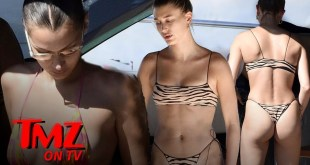 Hailey Baldwin and Bella Hadid Have Bikini Yacht Fun In Italy | TMZ
