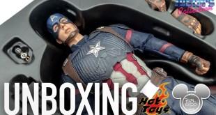 Hot Toys Captain America Avengers Endgame D23 Expo Unboxing