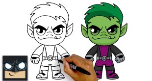 How To Draw Beast Boy | Teen Titans