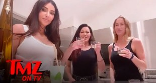 Kim Kardashian Takes Tequila Shots While Studying for Her Law Degree | TMZ TV
