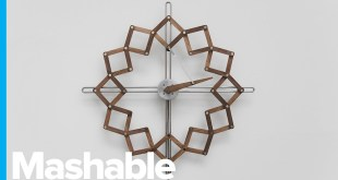 This Shapeshifting Clock Turns Time into Moving Art