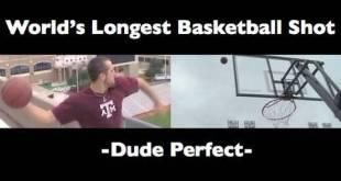 World's Longest Basketball Shot | Dude Perfect