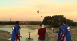 Fishing Pole Shot with The Harlem Globetrotters