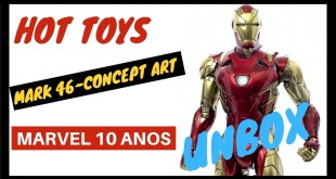 HOT TOYS IRON MAN Mark 46 Concept Art 😱 | Unbox | Comic Cave BR