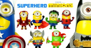 Minions in Justice League & Avengers Cosplay Vinyl Figures DC & Marvel Superheroes