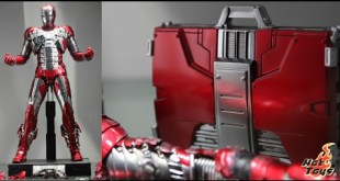 First Look ! Hot Toys (Die-Cast) Iron Man Mark V Collectible Figure