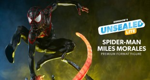 Spider-Man Miles Morales Premium Format Figure by Sideshow | Unsealed Lite