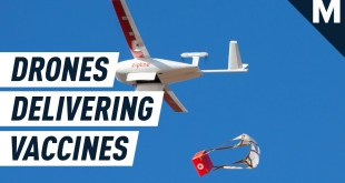 Drones Deliver COVID-19 Vaccines in Africa | Mashable