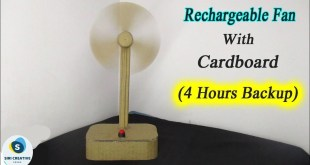 How to make Rechargeable Fan at Home with Cardboard || DIY Mini Rechargeable Fan (Very Easy)