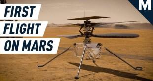 Watch NASA's Ingenuity Helicopter Make History on Mars | Mashable