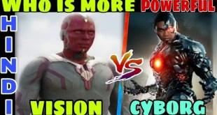 vision vs cyborg | who is more powerful , mcu vision vs dceu cyborg | Hindi CAPTAIN HEMANT