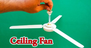 How To Make A Ceiling Fan | Homemade DC Ceiling Fan Science Project | 12v DC Ceiling Fan | Fan DIY