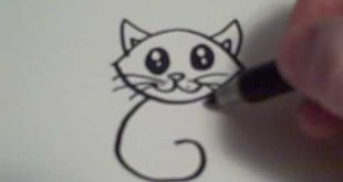 How to Draw a Cartoon Cat