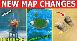 "*NEW* ALL SECRET MAP CHANGES! NEW FORTNITE UPDATE ""WATER LOWERED"" & ""NEW LOCATIONS ADDED"""
