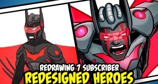 Redrawing Superheroes Redesigned by my Subscribers Part 1 (Batman Beyond, Flash and more!)