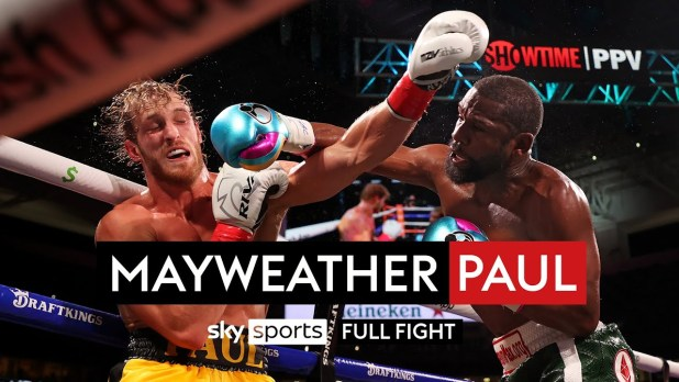 Floyd Mayweather v Logan Paul Full Fight - 6th June 2021 via Sky Sports