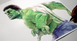 INCREDIBLE HULK Pen Drawing - Marvel - DeMoose Art