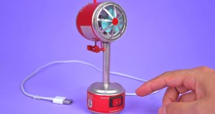 Making an Amazing Mini USB Fan with Soda Cans and DC Motor