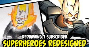 Redrawing Superheroes Redesigned by my Subscribers Part 2
