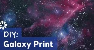 DIY Galaxy Print | Painting Tutorial | Sea Lemon