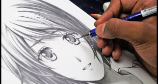 """How to draw Anime Girl''Using only ONE pencil""""[Anime Drawing Tutorial]"""