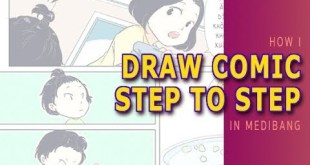 [Medibang Paint Pro speed drawing] How I draw comic step by step
