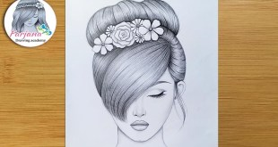 Drawing Tutorial for beginners || Pencil Sketch || How to draw a girl with BEAUTIFUL hair style