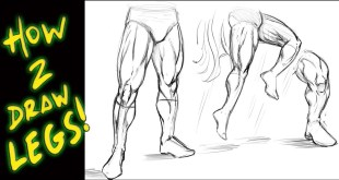 How to Draw Legs - Tutorial - Comic Book Style : Narrated by Robert A. Marzullo