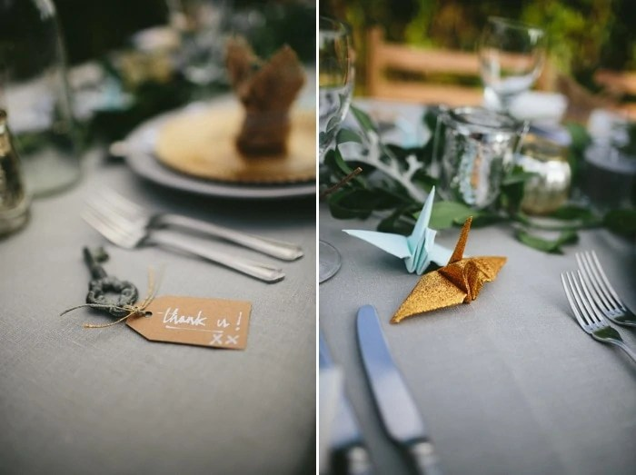 Creative documentary wedding photographer Northern Ireland table details