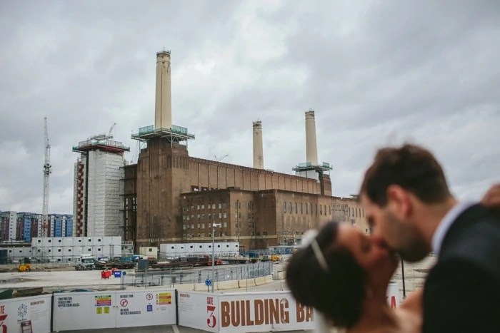 Fine art wedding portraits at Battersea Power station