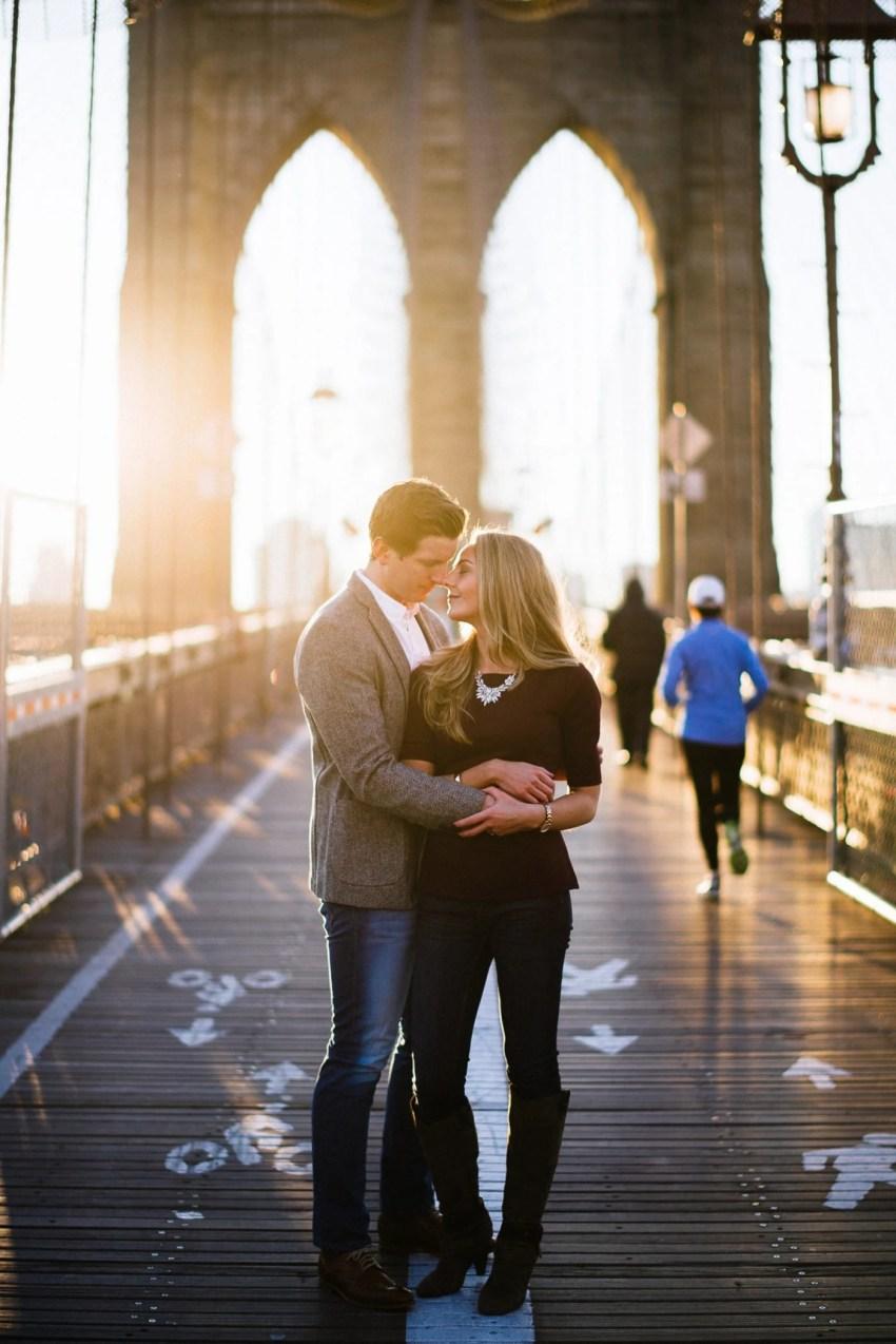 NYC Brooklyn Bridge Engagement Photos New York City Wedding Photographer