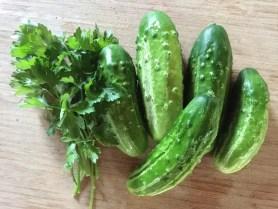 cucumber parsley