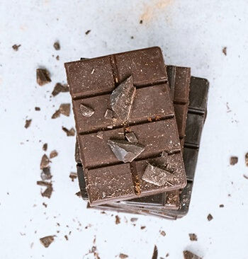 Dark chocolate is beneficial to your blood flow