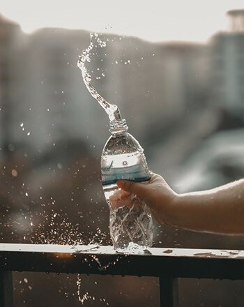 Water is essential for encouraging the movement of food through the colon