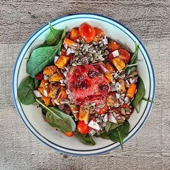 chia seed on salad