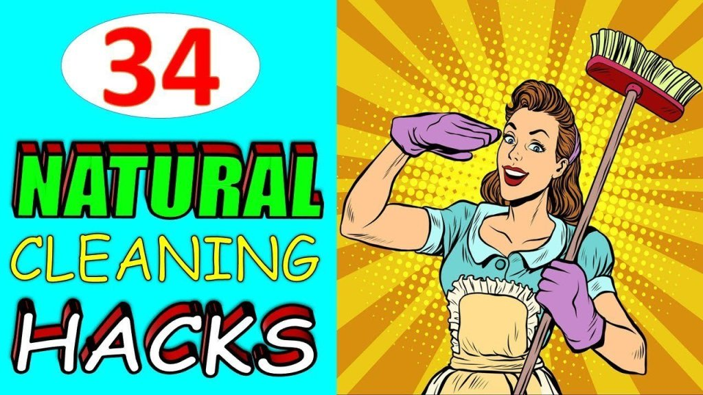 34 Natural Cleaning Hacks