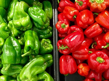 bell peppers are rich in vitamin c