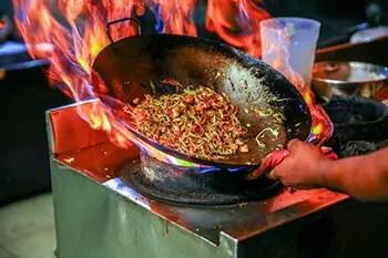 extinguish minor grease fires