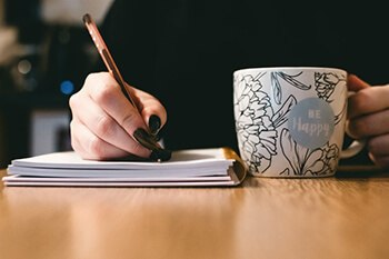 get rid of your negative thoughts by writing them down